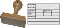 Holzstempel 60x90 Kostenstelle sachlich richtig - rechnerisch richtig