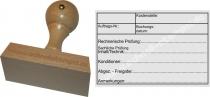 Holzstempel 60x90 Kostenstelle Auftragsnummer