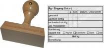Holzstempel 60x90 Rechnungs-Eingang