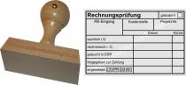 Holzstempel 60x90 Rechnungsprüfung angewiesen Bankart 3
