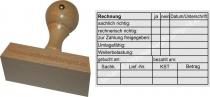 Holzstempel 60x90 Kontierungsstempel Umlagefähig