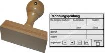 Holzstempel Rechnungsprüfung Kreditor -Abdruckgröße 47,5 x 78 mm