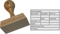 Holzstempel Rechnungsprüfung Bauvorhaben -Abdruckgröße 47 x 68 mm