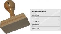 Holzstempel Rechnungsprüfung sachlich rechnerisch richtig -Abdruckgröße 47 x 68 mm