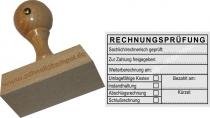 Holzstempel 50x70 Rechnungsprüfung Schlußrechnung
