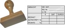 Holzstempel 40x80 Gebucht Bezahlt Gutschrift Skonto