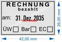 5440 Trodat Professional Rechnung bezahlt mit Überweisung Bar EC-Karte
