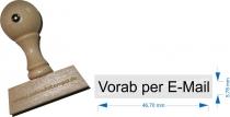 Holzstempel 10 x 50 mm Vorab per E-Mail