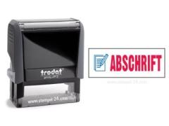 4912 Trodat Office Printy ABSCHRIFT mit roten Schriftzug und blauen Symbol
