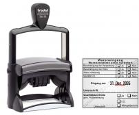 54110 Trodat Stempel Warenannahme unter Vorbehalt Qualitätskontrolle gemäß Prüfanweisung