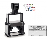 5206 Stempel Wareneingangskontrolle Wareneingang vorbehaltlich Beschädigung der Verpackung