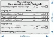 WARENEINGANG GEBUCHT VON • TRODAT PROFESSIONAL 5208 •