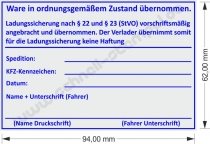 5212 Trodat Professional Ladungssicherung vorschriftsmäßig angebracht und übernommen