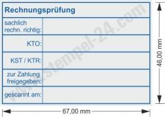 5208 Trodat Professional Kontierungsstempel Rechnungsprüfung Konto Kostenstelle Kostenträger