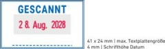 5430 OFFICE Professional Stempel mit Standard-Textplatte • GESCANNT •