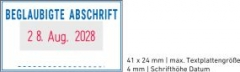 5430 OFFICE Professional Stempel mit Standard-Textplatte • BEGLAUBIGTE ABSCHRIFT •