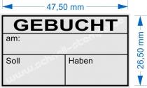 4929 Stempel Trodat Printy Gebucht am Soll Haben