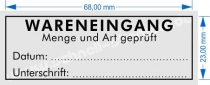 4915 Stempel Trodat Printy Wareneingang Menge und Art geprüft Datum Unterschrift