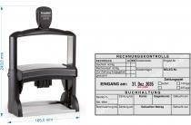 54120 Trodat Professional Rechnungskontrolle Buchhaltung, schalich richtig, zur Zahlung freigegeben, Konto, Gegenkonto, Gebuchter Betrag