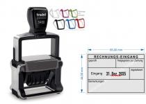 5480 Trodat Professional 4.0 Buchungsstempel Rechnung-Eingang geprüft, freigegeben zur Zahlung, am Datum verstellbar, Bemerkung, digitalisiert.