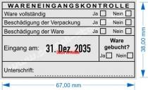 5480 Trodat Professional Stempel Wareneingangskontrolle Ware gebucht