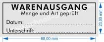 4915 Trodat Printy Stempel Warenausgang Menge Art geprüft