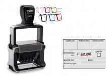 5480 Trodat Professional 4.0 NEU Buchungsstempel Sollkonto-Habenkonto-Kostenstelle-geprüft-gezahlt am-Bank