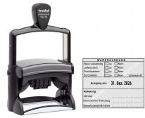 54110 Trodat Professional Warenausgangsstempel-Ware vollständig-Lieferschein-Frachtpapiere-Europalette-Unterschrift