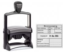 54110 Trodat Professional Warenausgangsstempel-Ware vollständig-Lieferschein-Verpackung-Abholung-Unterschrift-Kennzeichen Fahrzeug