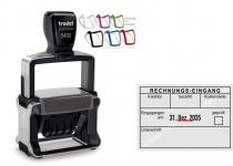5480 Trodat Professional 4.0 NEU Buchungsstempel Rechnungs/Eingang-Kreditor-bezahlt-Kostenstelle-geprüft