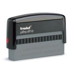 4916 Stempel Trodat Printy Classic Textstempel Abdruckgröße max. 70 x 10 mm