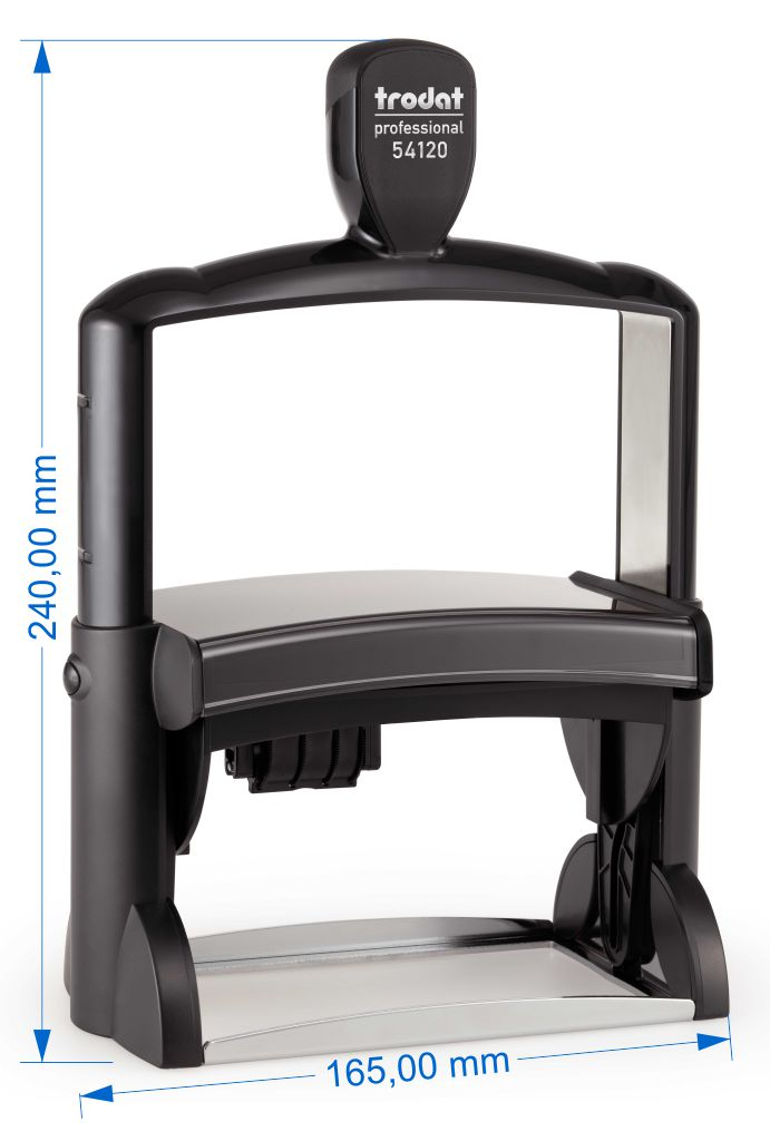 trodat professional 54120 116x70 mm 14 zeilen mit datum links schnell automotive e k. Black Bedroom Furniture Sets. Home Design Ideas